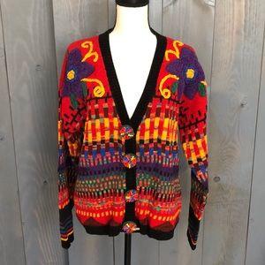 Carole Little Knitwear Vintage Cardigan Medium